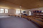 Mehrzweckraum in der rekonstruierten Unterkunftsbaracke